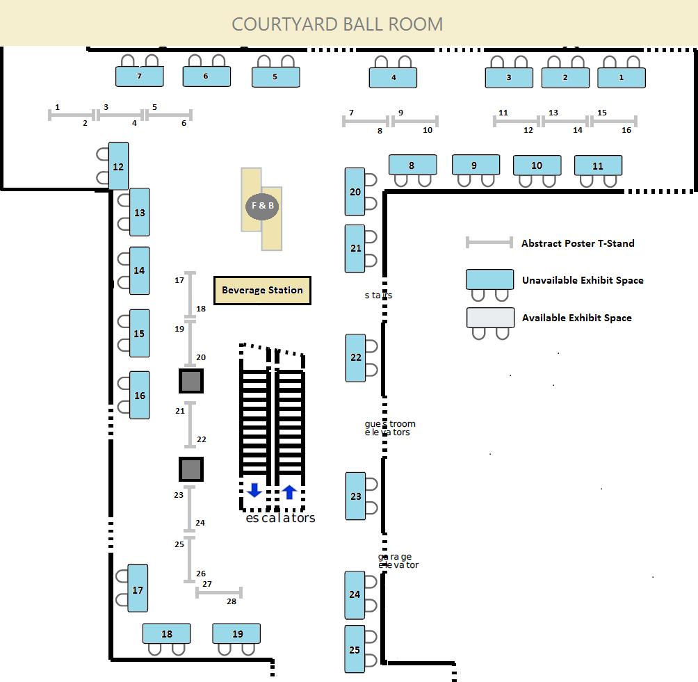 CALNOC 2017 Exhibitor Floorplan