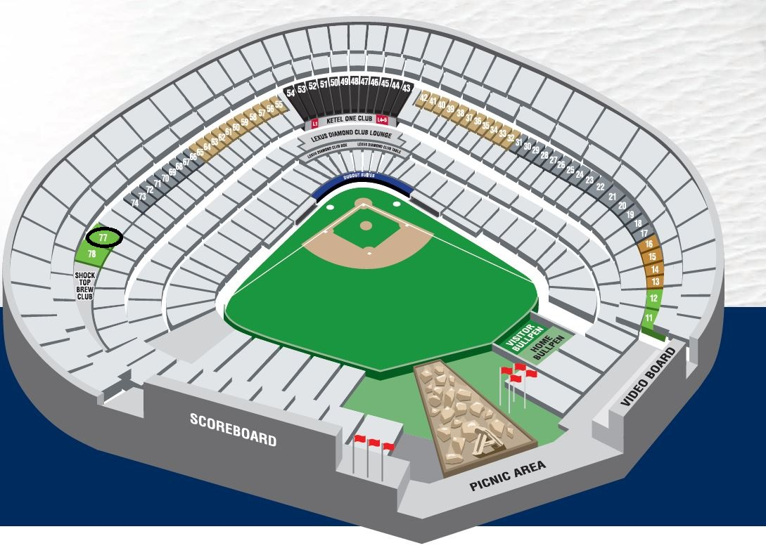 Angels Seating Map