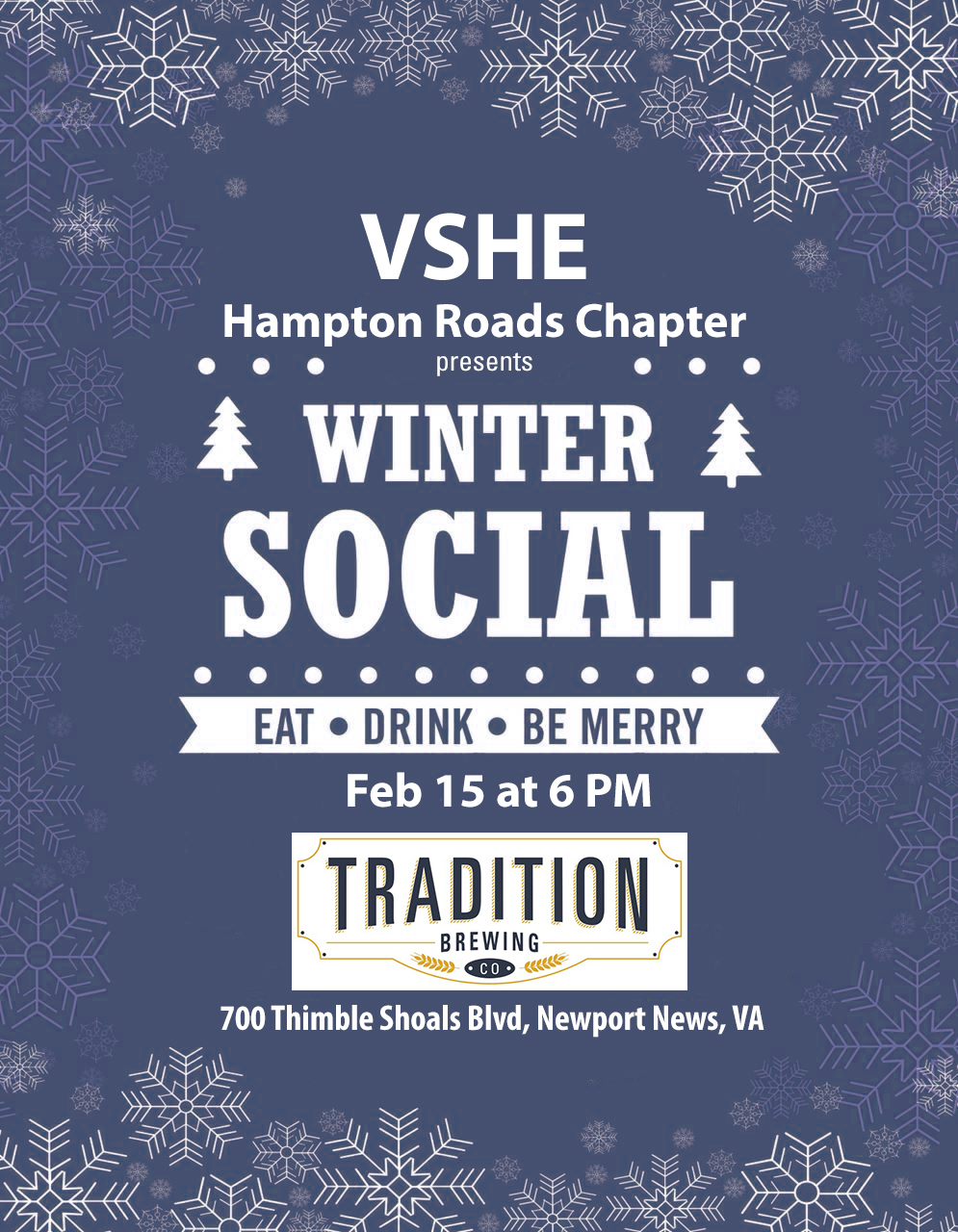 VSHE Winter Social Flyer