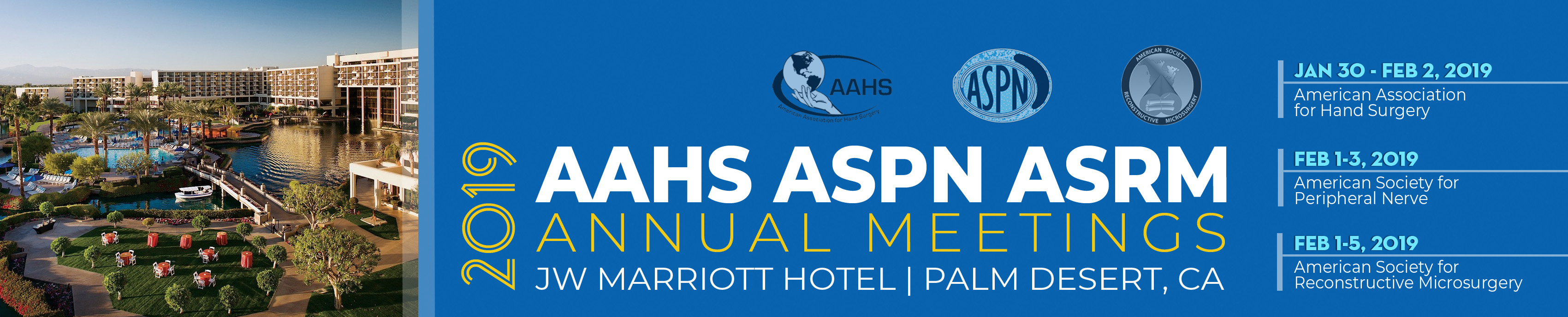 AAHS/ASPN/ASRM Annual Meetings