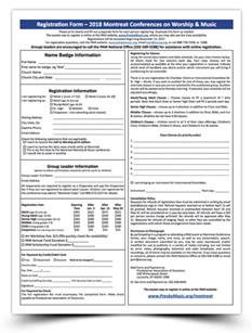 2018 Montreat Registration Form