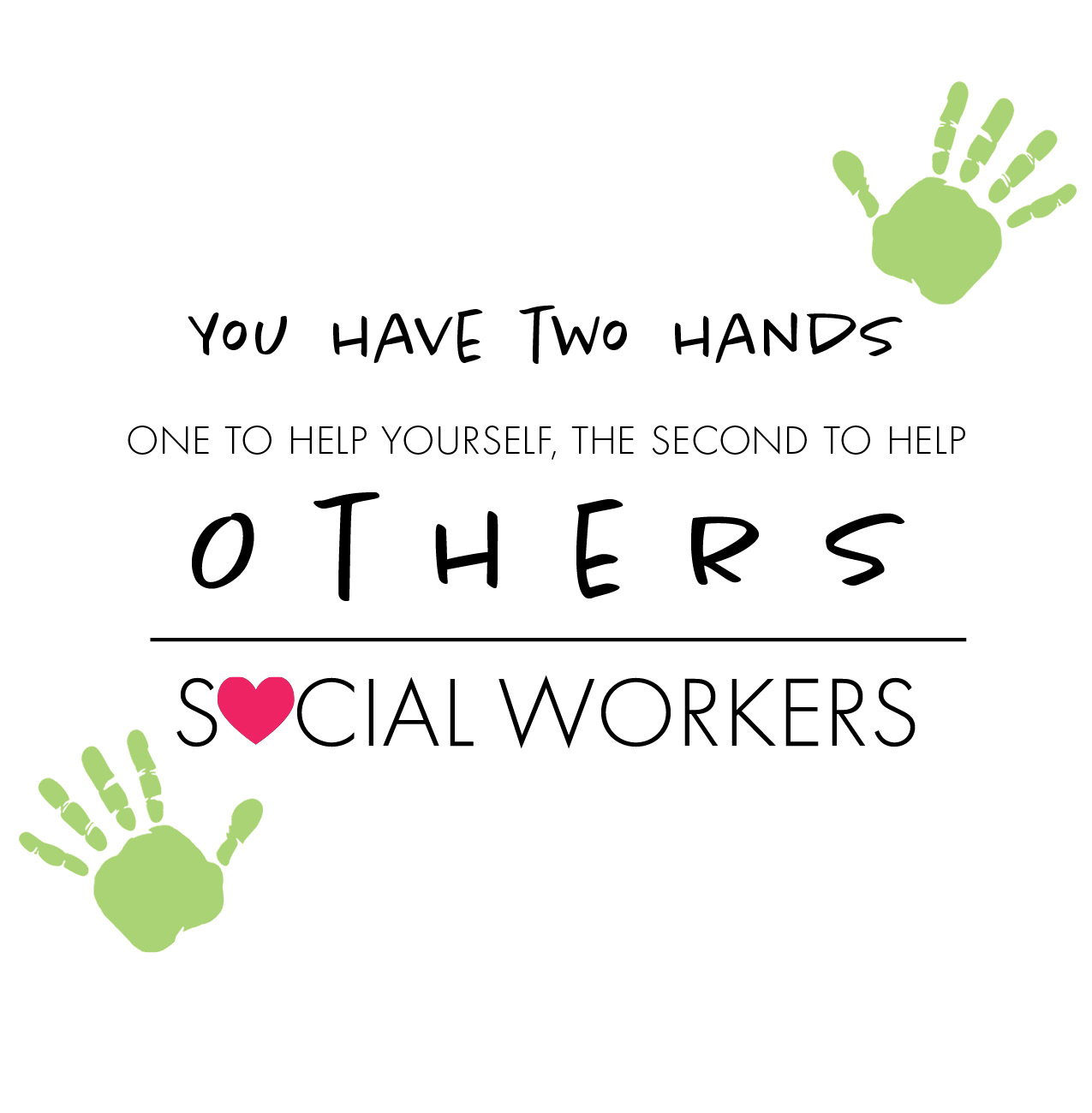 Social Workers Two Hands Shirt