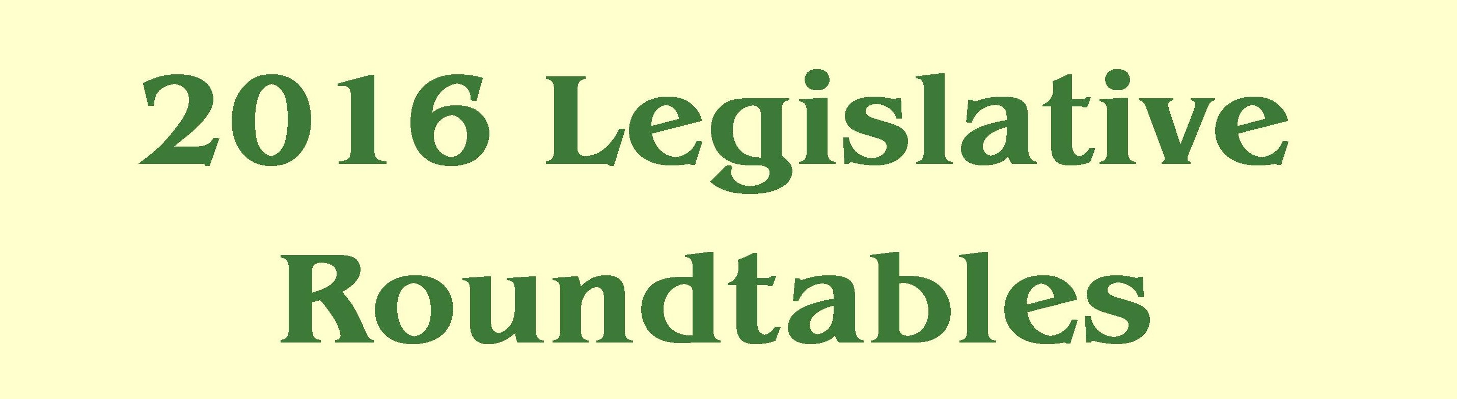 2016 Legislative Roundtable Breakfast - Lake George