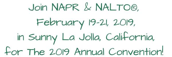 Join NAPR & NALTO 2019