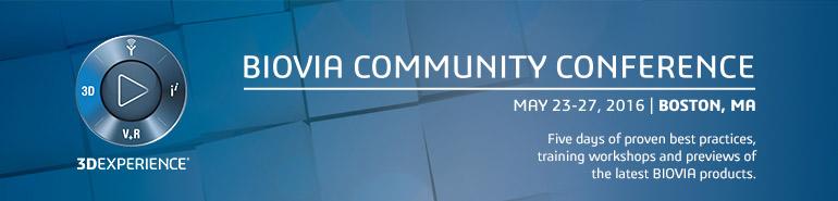 2016 BIOVIA Community Conference - North America