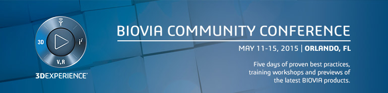 2015 BIOVIA Community Conference - North America