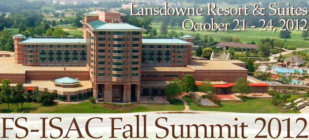 Sponsor Registration For The 2012 FS-ISAC Fall Summit