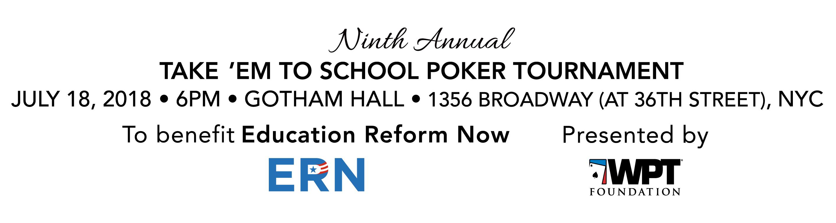 ERN Take 'Em to School Poker Tournament 2019