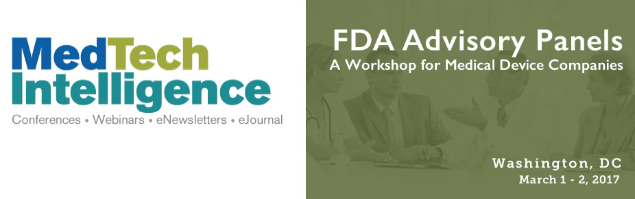 FDA Advisory Panels, March 1 - 2, 2017 - Washington, DC