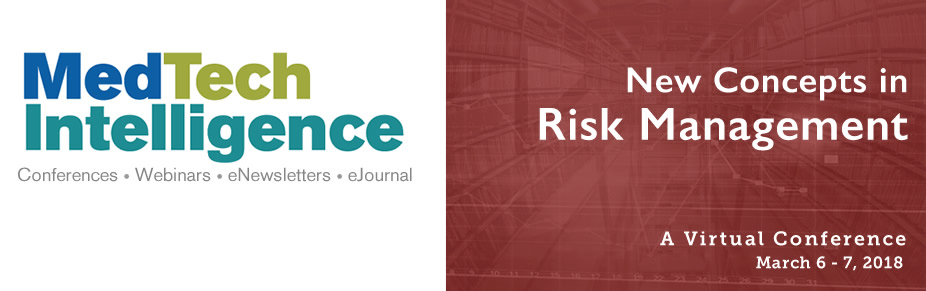 New Concepts in Risk Management - March 6-7, 2018 - A Virtual Conference