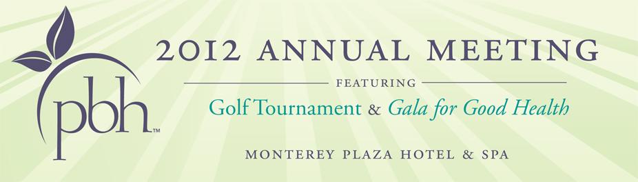 PBH 2012 Annual Meeting, Golf Tournament & Casino Night Fundraiser