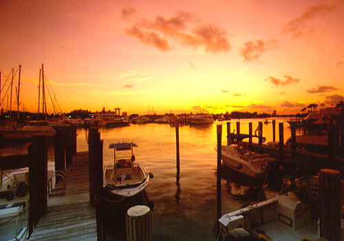 Fort Lauderdale Marina Sunset