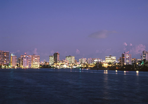 Skyline of Condado District, San Juan