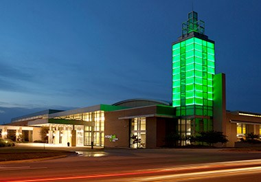 Overland Park Convention Center Outside Night