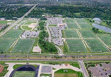 Scheels Soccer Aerial Overland Park