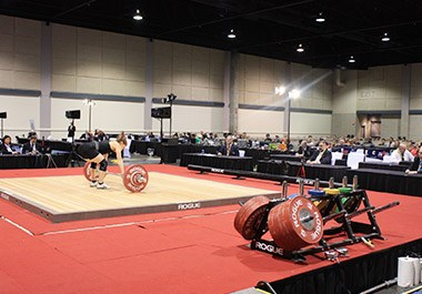Weightlifting at Overland Park Convention Center