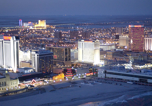 Atlantic City Skyline at Night
