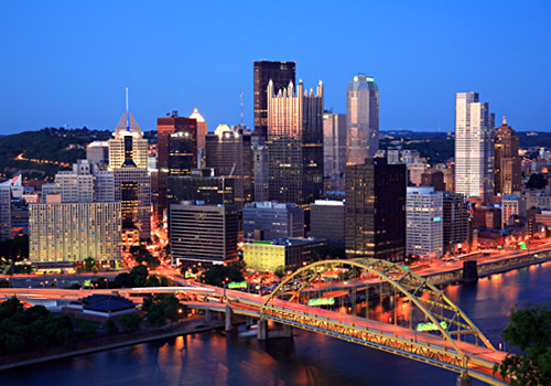 Downtown Pittsburgh at Dusk