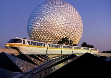 Spaceship Earth Evening with Monorail