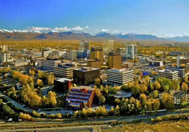 Anchorage Fall Skyline