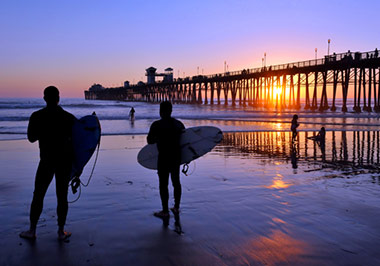 Surfers at Oceanside