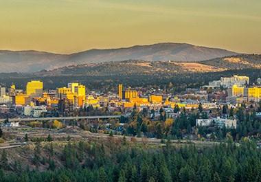 Sunset in Spokane region