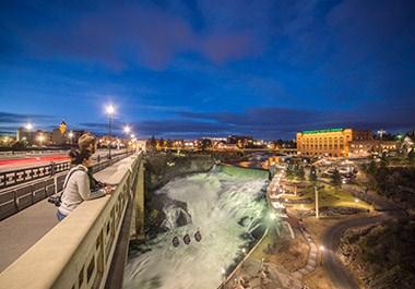 Spokane Falls from Monroe Street Bridge