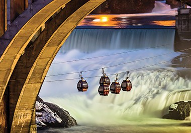 Ride the SkyRide over the Spokane Falls