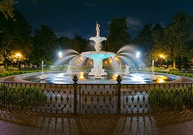 The fountain in Forsyth Park