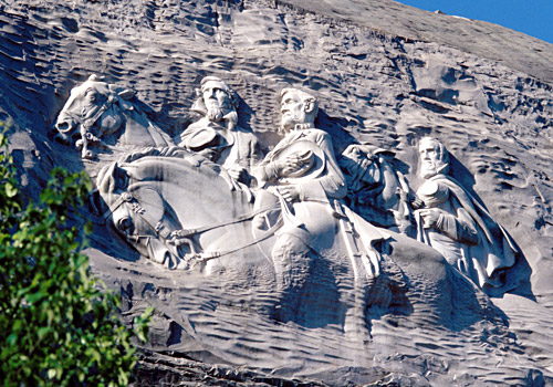 Confedarate Civil War Memorial Carving