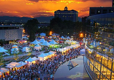 Library Square, The Leonardo, and Utah Arts Festiv