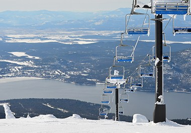 Chairlift at Whitefish Mountain