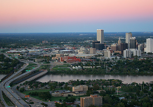 Tulsa Aerial View at Dawn