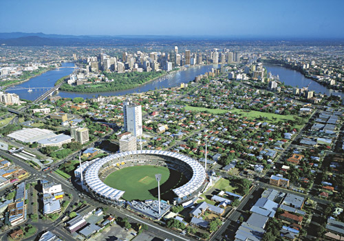 The 'Gabba' and Brisbane Skyline
