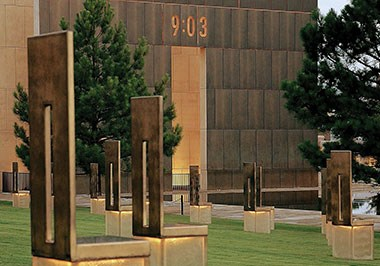 Gates of Time at Oklahoma City National Memorial