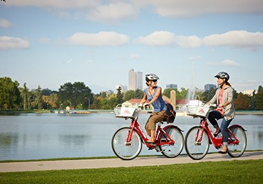 Bicycle riders at City Park