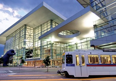 Light rail near Colorado Convention Center