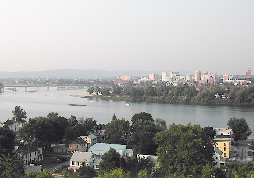 Harrisburg Panoramic View Across Susquehanna River