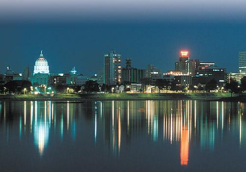 Harrisburg Skyline at Night