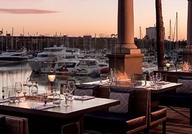 Marina del Rey, Waterside dinning Ritz