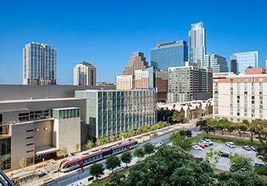Austin Convention Center Skyline