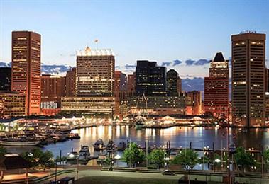 Baltimore Inner Harbour Night