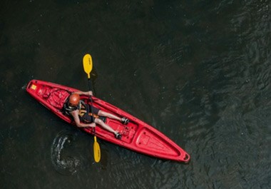 Kayaking on the river, just minutes from downtown