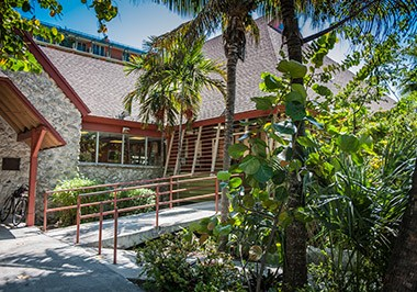 Coconut Grove Library Exterior CU