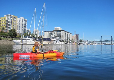 Kayaking on the Foss Waterway