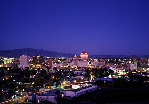 Albuquerque Skyline at Night
