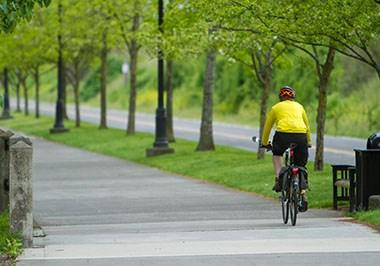 Waterfront Renaissance Trail Cyclist