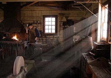 Fort Vancouver blacksmith shop