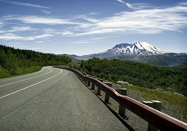 Road to Mt. St. Helens