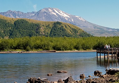 Mt. St. Helens from dock